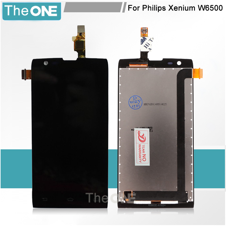 For Philips Xenium W6500 LCD Display With Touch Screen Digitizer Assembly Replacement Parts