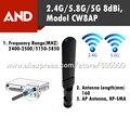 2.4G \ \ 5G 8dBi de 5.8G AP tarjeta de Red Inalámbrica Wifi Antena 1 unids