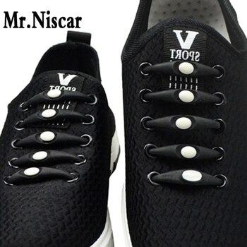 Mr. niscar 1 Unidades/12 piezas creativo silicona deportes Lazy Cordones elásticos No lazo cordones Correa apta todas las zapatillas de deporte entrega rápida