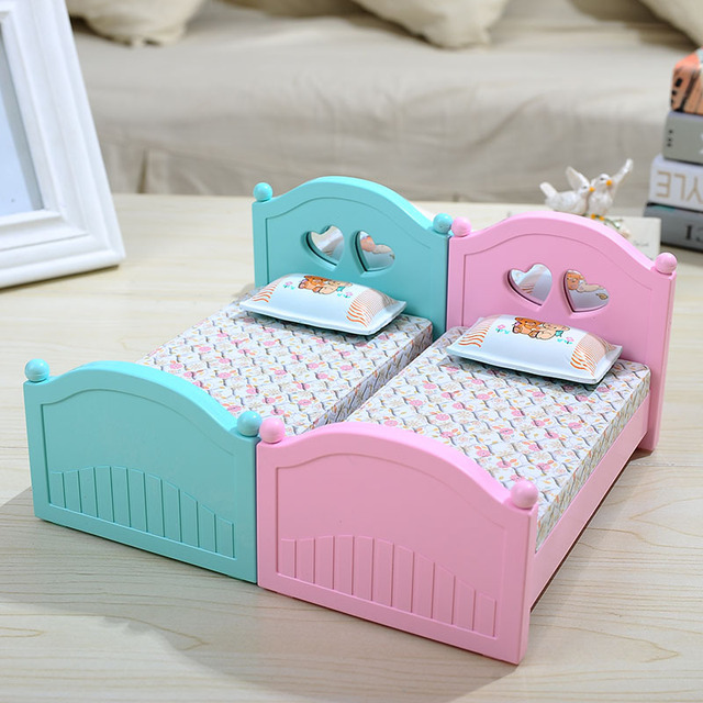 Creative Flip Mirror Princess Bed Music Box Single Bed