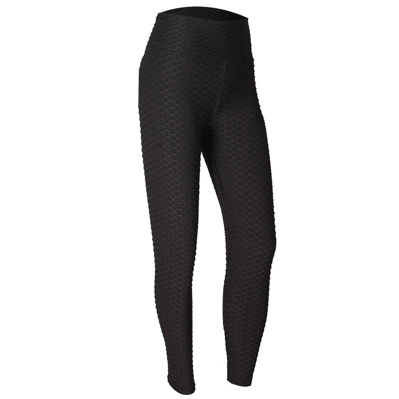 Moda de alta cintura Fitness Leggings mujeres entrenamiento Push Up Legging Color sólido Bodybuilding Jeggings mujeres Pantalones