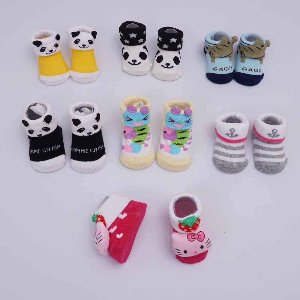3 пар/лот Новая мода новорожденных хлопок малыша обувь, Младенческая малышей мультфильм мягкая подошва для девочек детская обувь, впервые Уокер 0-3 м