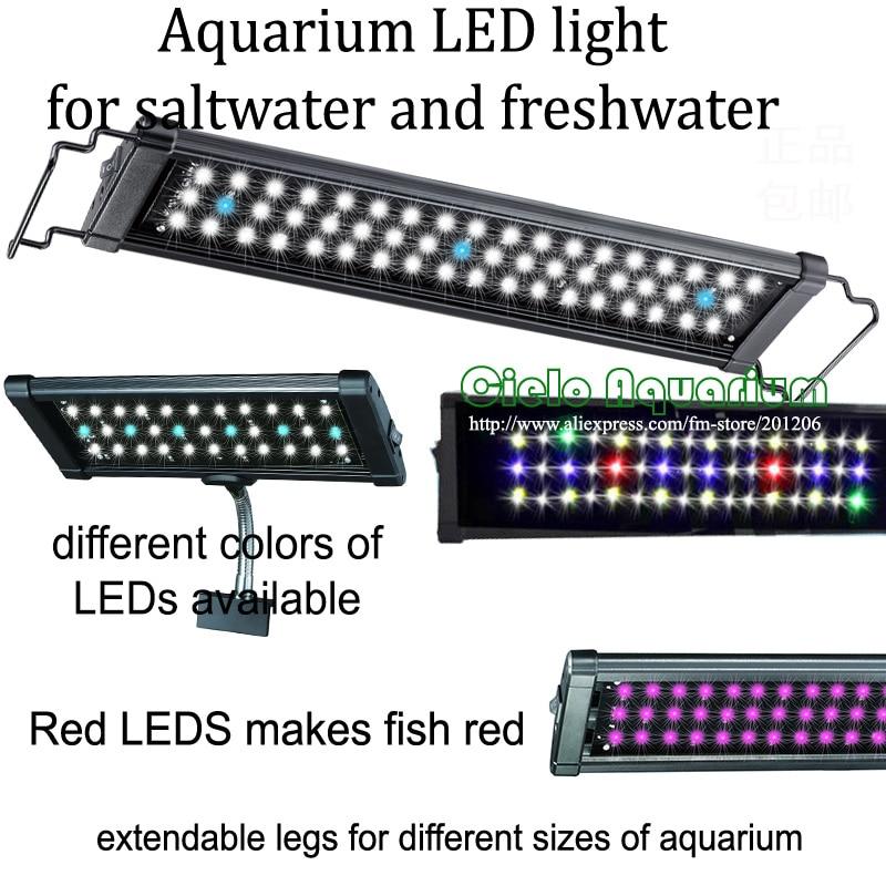 """60 """"- 72""""/ 150CM - 180CM 하이 루멘 담수 식물 해수 해양 수생 애완 동물 수족관 물고기 탱크 LED 조명 조명기구 램프"""