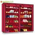 Actionclub двухрядная многослойная Минималистичная Ткань Оксфорд шкаф для обуви пылезащитный влагостойкий органайзер для обуви полки мебель