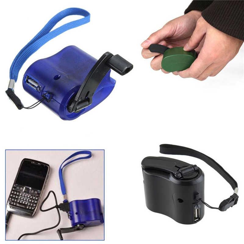 PRZENOŚNA RECZNA ŁADOWARKA USB do TELEFONU + KABEL