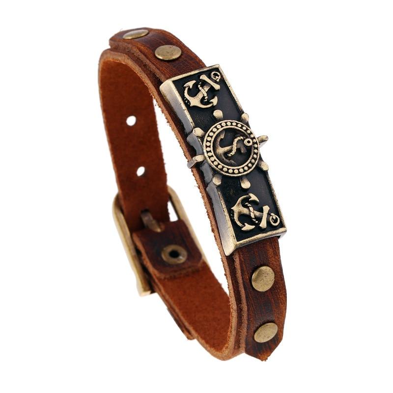 one beautiful vintage anchor cross belt bracelet femme adjustable leather bracelets for women. Black Bedroom Furniture Sets. Home Design Ideas