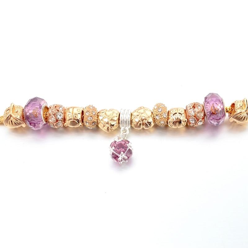 Szelam Ženski modni nakit Pink Kristalna narukvica za žene Zlatne - Modni nakit - Foto 5