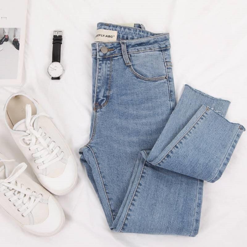 Fashion Skinny Slim waist   Jeans   Women casual strech Denim Pencil Pants boyfriend   jeans   women straight zipper   jeans   female 5XL