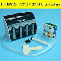 Free Post Ciss System For Epson T2711-T2714 T271 271 Ciss For Epson WF-7110 WF-7610 WF-7620 WF-3620 WF-3640 With ARC Chip