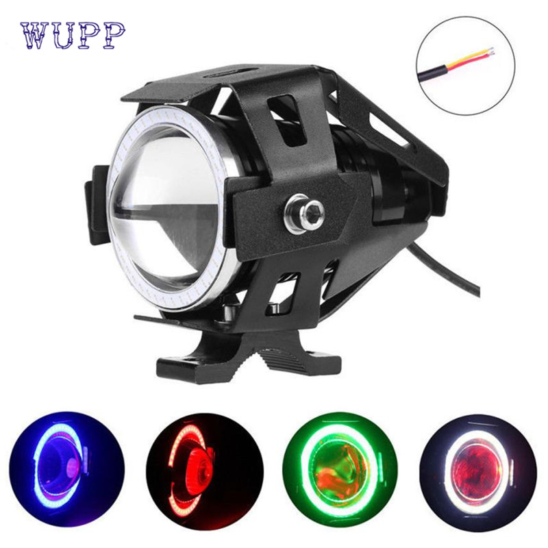 2017 car-stylingAuto U7 LED Motorcycle Light Headlight Spotlight Driving Fog Lamp 3 Modes 12-80V June29