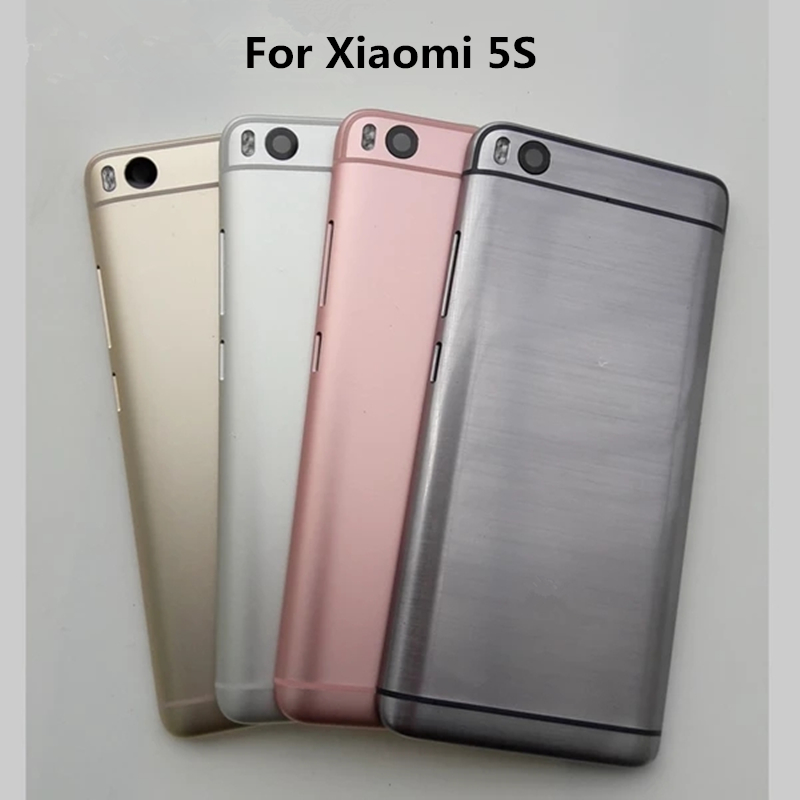 Sinbeda Original Back <font><b>Cover</b></font> <font><b>Battery</b></font> Housing For <font><b>Xiaomi</b></font> 5S MI 5S Rear Back Door with Power Voluem Button Lens For <font><b>Xiaomi</b></font> 5S <font><b>MI5S</b></font> image