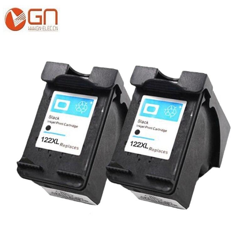GN pour HP122 122XL Cartouche Dencre NOIRE CH563WN 564 pour HP Deskjet 1000 1050 1050A 1510 2000 2050 2050A 3000 imprimante