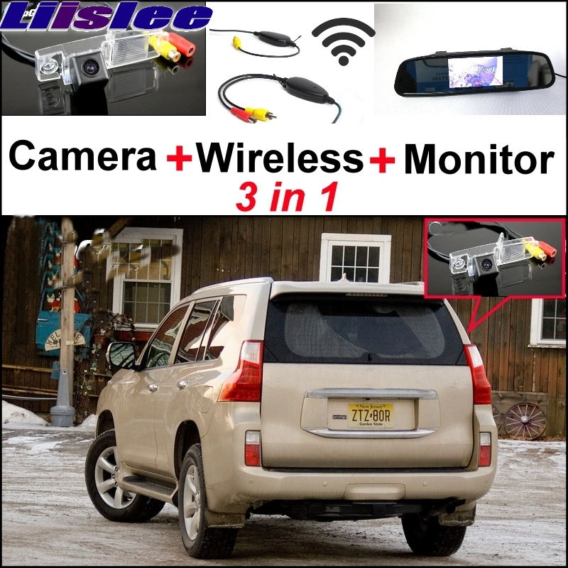 Liislee Special Camera + Wireless Receiver + Mirror Monitor 3 in1 Easy Backup Parking System For LEXUS GX 460 GX460 2009~2017 wireless pager system 433 92mhz wireless restaurant table buzzer with monitor and watch receiver 3 display 42 call button
