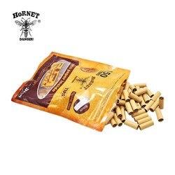 Hornet 150 pces por o filtro de rolamento rolado dicas de rolamento de papel goma natural magro laminado natural não refinado do filtro do cigarro do fumo