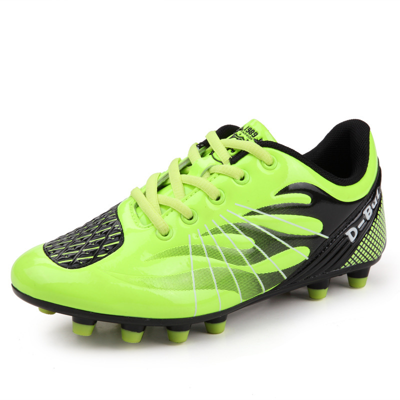 Men Women Adult High Quality Green Football Boots Indoor Cleats Practical Sole Soccer Shoes