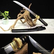 Кованая Дамасская сталь самурайский меч ручной работы японский Танто/Wakizashi Полный Тан резкость готов для резки