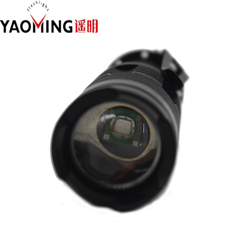 High power led linternas cree q5 3 modes 5w waterproof rechargeable lantern zoomable tactical flashlight torch lamp + AA battery