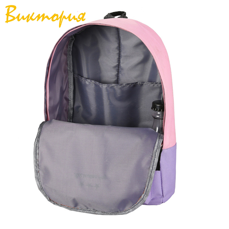 2019 Pop New Women 39 s Travel Bag Canvas Backpack College Wind Middle School Students Unisex for Teenage Girls Composite Backpack in Backpacks from Luggage amp Bags