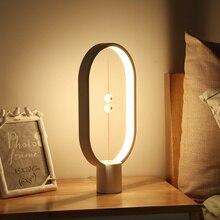 Allocacoc heng equilíbrio lâmpada led night light usb alimentado decoração de casa quarto escritório candeeiro de mesa noite romance luz presente para crianças