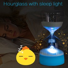 Creative Hourglass With Sleeping Silicone Night Light Long Battery Life LED Bedside Lamp Rechargeable Multicolor Transformation custom wallpaper photo modern purple 3d embossed flower mural living room bedroom home decor background wall 3d wallpaper