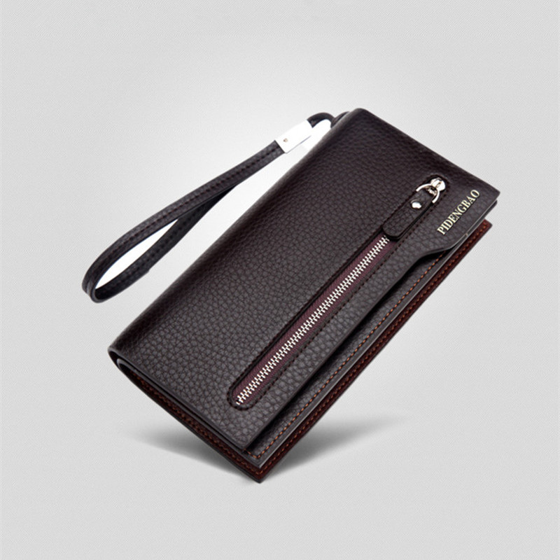 2017 New Stylish Men Long Bifold Business PU Leather Wallet Male Money Card Holder Coin Bag Men's Leather Clutch Bags Male Purse casual pu leather men hasp long wallet luxury money coin pochette slim portf purse card holder pocket clutch male pouch bag