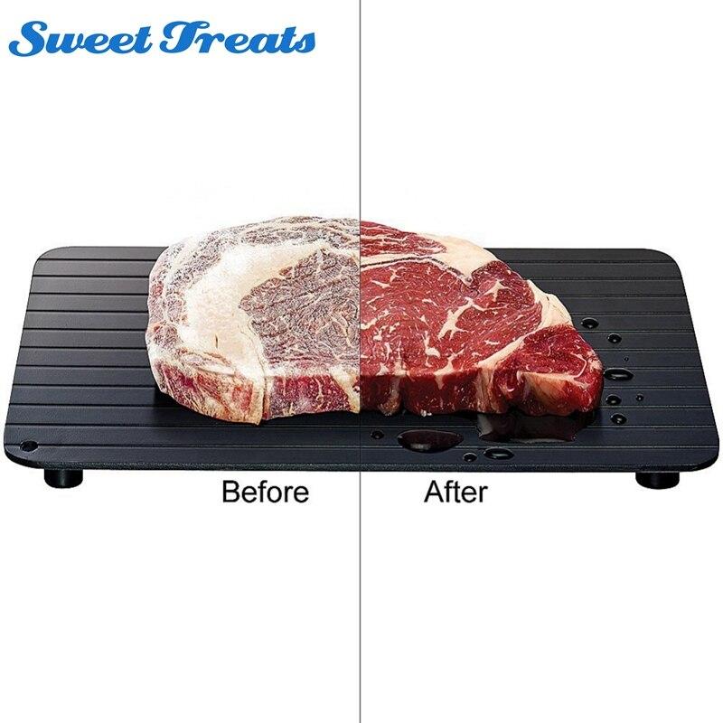 Sweettreats Hohe Qualität Schnelle Abtauen Tablett Abtauung Fleisch oder Tiefkühlkost Schnell Ohne Strom Mikrowelle