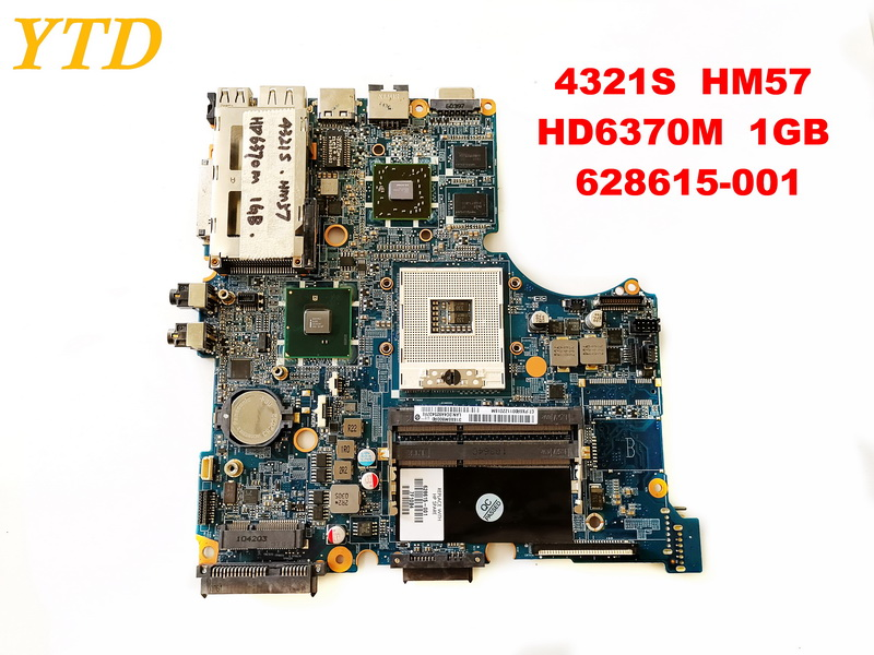 Original for HP 4321S laptop motherboard 4321S  HM57  HD6370M  1GB  628615-001 tested good free shippingOriginal for HP 4321S laptop motherboard 4321S  HM57  HD6370M  1GB  628615-001 tested good free shipping
