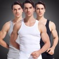 3pcs/lot 2016 men Tank Top 100% Cotton High Quality Undershirt Bodybuilding Singlet Fitness Sleeveless Vest Men Tank Tops