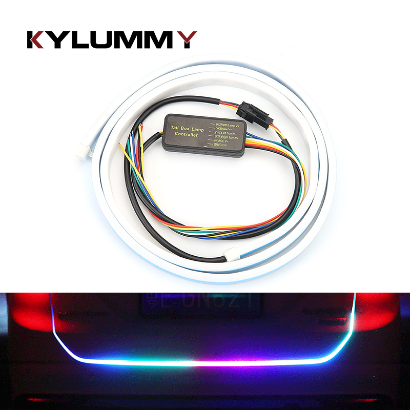 Cool LED Car Styling Tail Lights 150cm Flowing Changed Follow Signal Light Taillight Dynamic Exterior Decoration