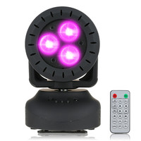 ZjRight 15W Staining Stage Light 3 Leds Rgbw Beam Moving Head Light Wash Effect Stage Lamp