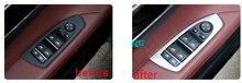 Окна автомобиля и пуговицы Управление Панель Накладка для BMW 7 серии F01 2010 2011 2012 2013 2014 2015 левой привод автомобиля