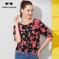 Best seller Fashion Women's cotton T shirt summer 2018 large size women summert shirt silk waist sleeves silk t shirt women