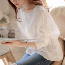Women Chiffon Blouse Casual Long Sleeve White Lace Shirt Ladies Office Shirts Blusas Spring Autumn Top