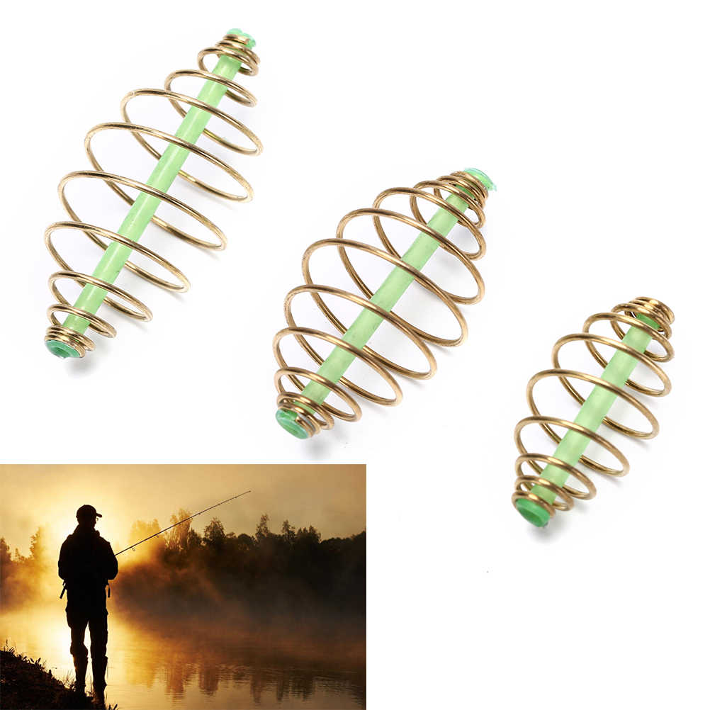 10PCS Method Feeder Bait Spring Cage for Carp Fishing Rig Saltwater Bottom Rigs Making Fishing Tackle L M S