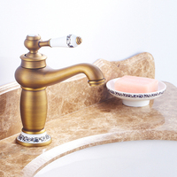 Bathroom Faucet Antique bronze finish Brass Basin Sink Faucet Single Handle water taps