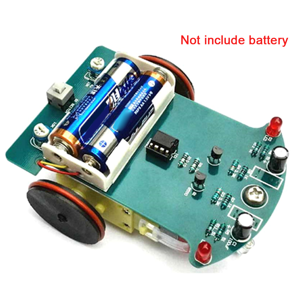 Motor Toy Car Robot Electronics Smart Soldering Welding Project Competition Tracking Kids DIY Kit Smart Following Line #17