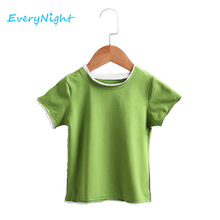 Every Night Boys T-shirt Cotton Summer Shirts for Girls Short Sleeve T shirt Children Baby Tops Tee Clothes Six Colors