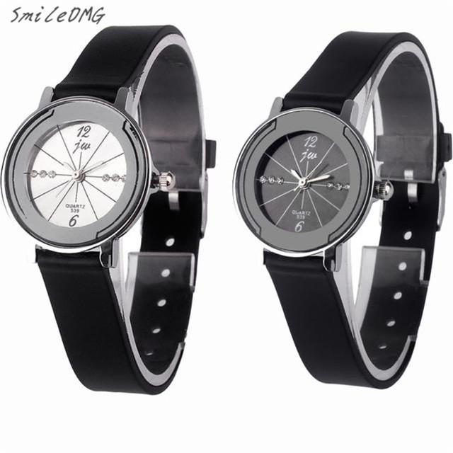 clock hot marketing new fashion gentlemen pu leather high quality quartz watch black free shipping - Watch Black Christmas