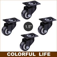 High Load Bearing 2 Inch PU Casters Wheels Mute Wheel Wearable FOR Sofa Furniture Trolleys HOME