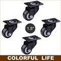 Rodamiento de carga, 1.5 pulgadas de la PU ruedas / ruedas, rueda de silencio / portátil, para sofá, muebles, carros, inicio / metal Industrial