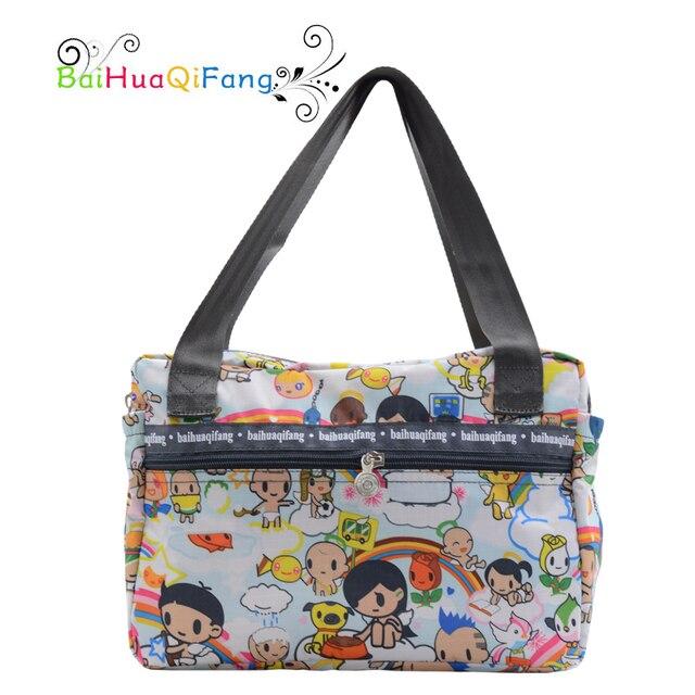 Дизайнер мультфильм печати женщин белая сумка доказательство воды ПВХ большой багаж сумки для путешествий нейлоновые сумки легкий вес дорожные сумки женские дорожные сумки пвх сумка