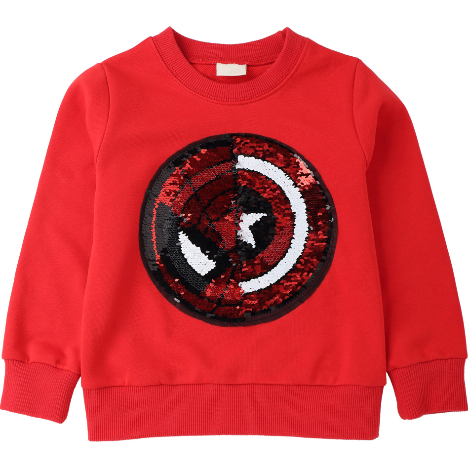 Captain America Pattern Sweatshirts for Children Long Sleeve Tops boys T-shirt Girls Pullover Blouse Kids Clothes Autumn 2018