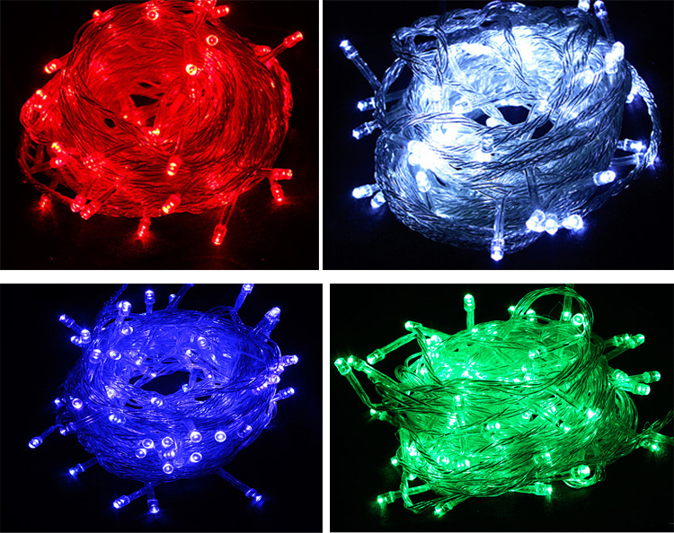 Decorative Lights Christmas festive arrangement of lights the stars flash 10 m 100 lamp color LED lights