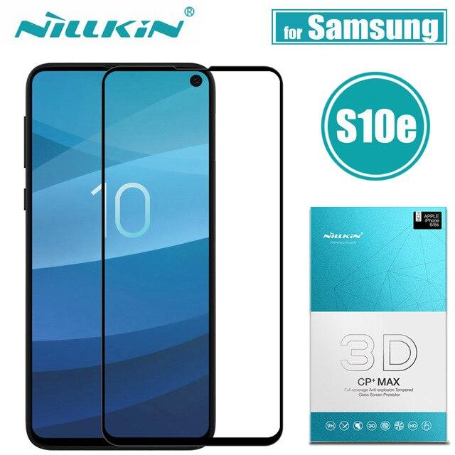 Nillkin Samsung S10 Artı S10e Cam Ekran Koruyucu 3D Tam Kapak Güvenlik Koruyucu Cam Samsung Galaxy S10 Temperli