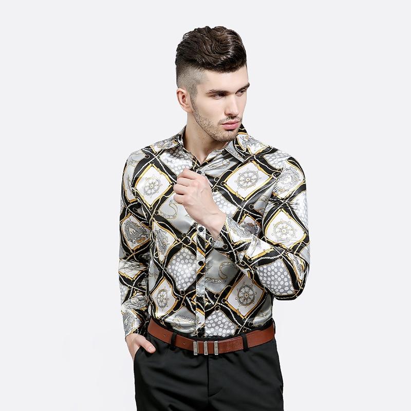 Μόδα Slim Fit αρσενικό τυχαίο πουκάμισα - Ανδρικός ρουχισμός - Φωτογραφία 5