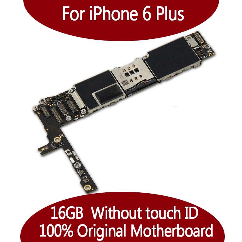 16 GB Pour iphone 6 Plus Carte Mère 100% Débloqué Original pour iphone 6 Plus La Carte Mère sans Tactile ID Fonction bon qualité