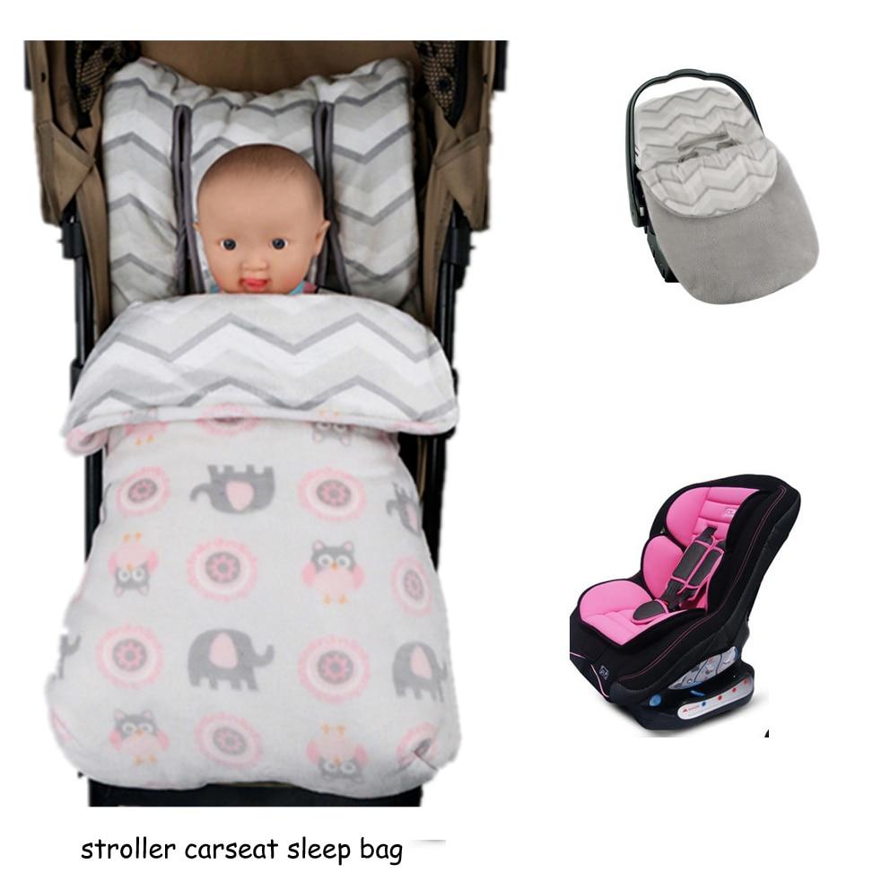 ベビーカーアクセサリー冬暖かい春秋のベビーカーのチャイルドシート寝袋新生児幼児厚い寝袋乳母車footmuff
