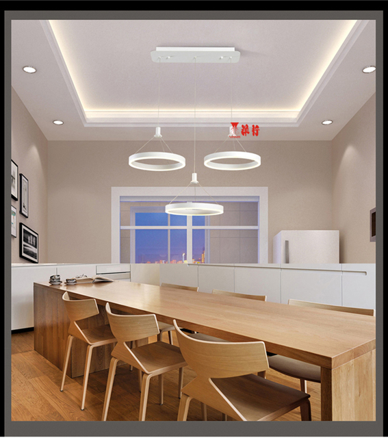 Elegant Moderno Lampadario LED Cerchio Anello Lampadario Per Soggiorno Acrilico  Lustre Lampadario Illuminazione Del Nastro Bianco Sala