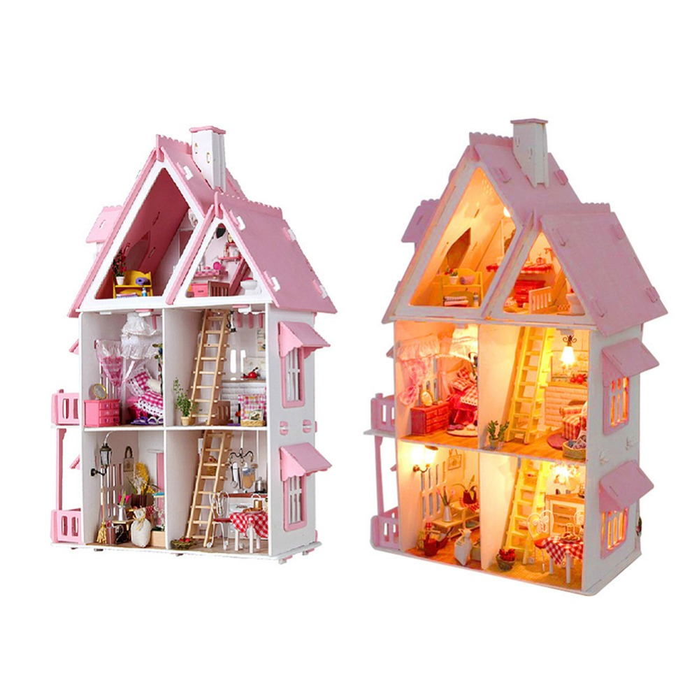 DIY Doll House Cabin Sunshine Alice Without Dust Cover цена
