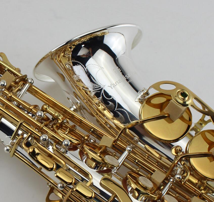 купить YANAGISAWA S A-992 E Alto Sax Silvering / wind / Gold Plated Key Tube Perfect Appearance Music Instruments Free shipping недорого